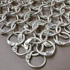 Armae cottes de maille pvc et aluminium pour grandeur nature - Fabrication cotte de maille ...