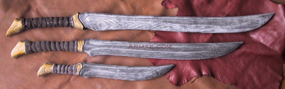 ARMAE - Grandeur Nature, armes en mousse