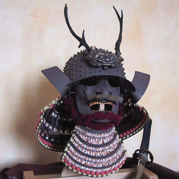 armae kabuto et mempo casque de samourai japonais. Black Bedroom Furniture Sets. Home Design Ideas