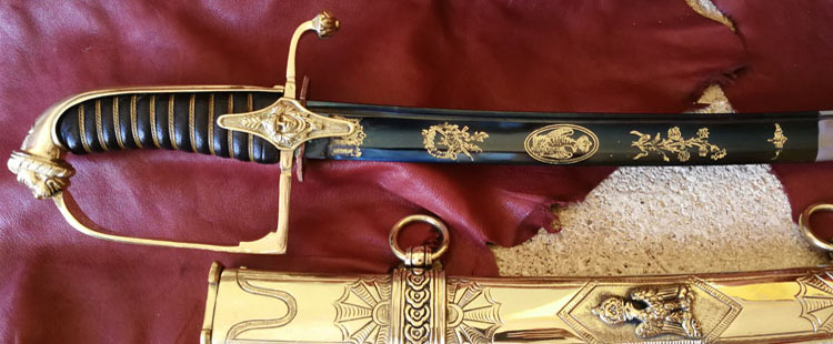 Chasseur a cheval officer sword, imperial guard