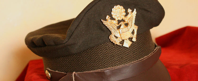 WWII US officer cap